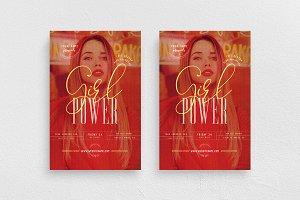 Girl Power Flyer Template