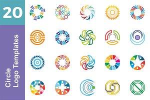 20 Logo Circle Templates Bundle
