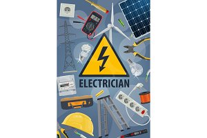 Electric service, equipment, tools