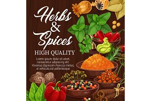 Herbs, spices, food condiments