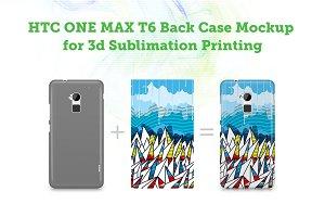 HTC One Max T6 3d Case Mockup