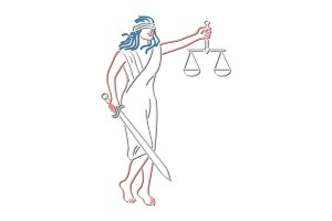 Lady Justice Holding Sword and Balan
