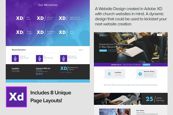 Adobe XD Experience Church Web Kit