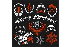 White Christmas design elements