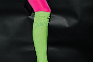 cropped image of girl showing leg in