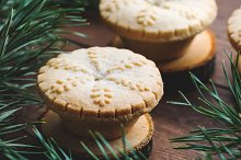 Close-up of Christmas mince pie by  in Food & Drink