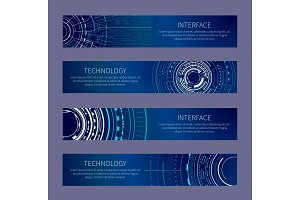 Interface and Technology Set Vector