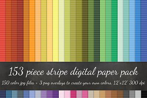 153 Piece Stripe Digital Paper