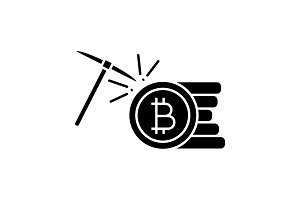 Cryptocurrency mining service icon