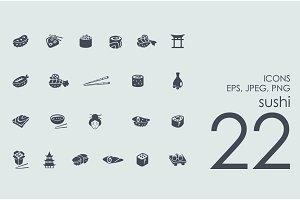 22 sushi icons