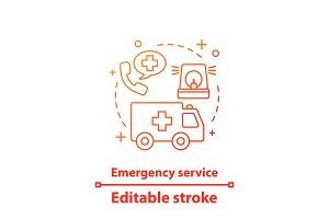 Emergency service concept icon