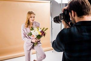 photographer shooting beautiful youn