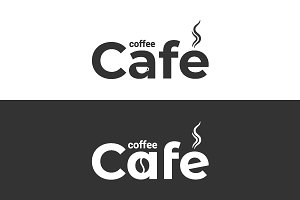 Coffee cafe logo. Coffee cup.