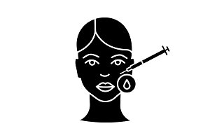 Botox injection disinfection icon