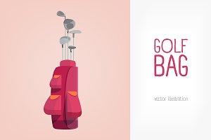 Golf bag illustration
