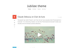 Jubilee theme - Tumblr blog (PSD)