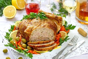 Celebratory food. Baked chicken