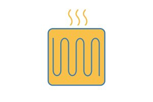 Underfloor heating element icon