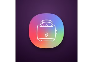 Slice toaster with toast app icon