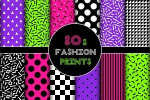 Cute set of 80's style geometric