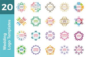 20 Logo Wedding Templates Bundle