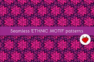 Seamless pattern of Aztec motifs