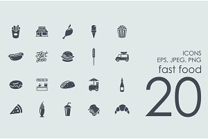 20 fast food icons