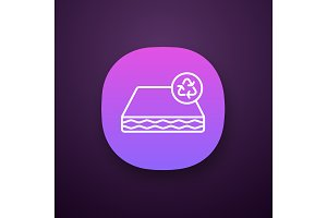 Ecological mattress recycling icon