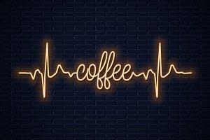 Coffee neon concept design.