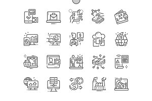 Digital Economy Line Icons