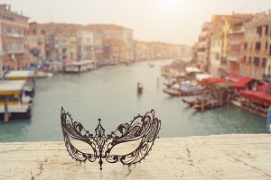 Venice, Italy .Venetian masks on