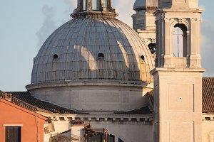 Italy, Venice. Shot of a big church.
