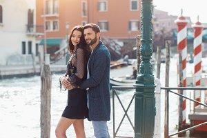Love - romantic couple in Venice