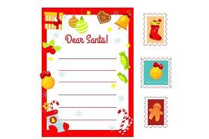Christmas Letter to Santa blank