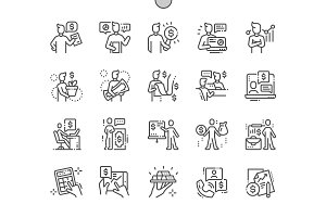 Financial advisor Line Icons