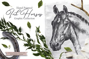Ink Horses Graphic Collection