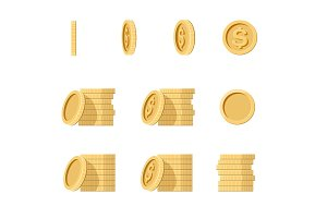 Coins stack illustration