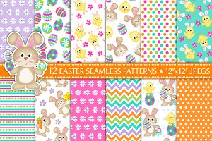 Easter Digital Paper,Easter Patterns