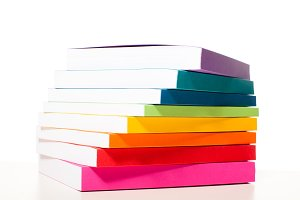 Colorful collection of the books on