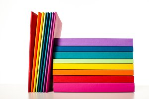 Colorful collection of the books and