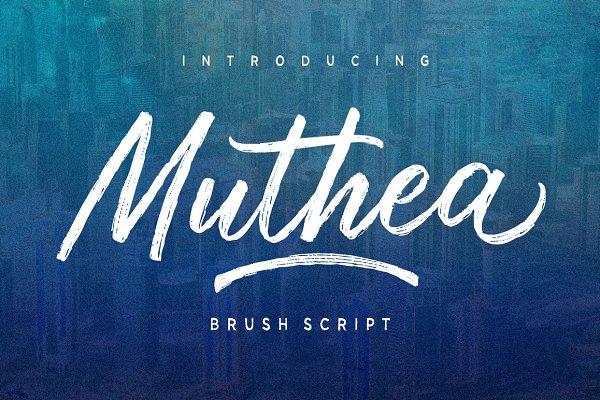 Script Fonts: Discipline - Muthea
