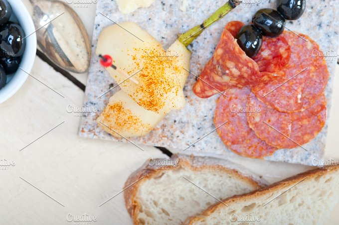 cold cut snack on stone 005.jpg - Food & Drink