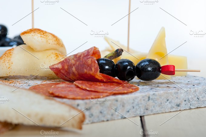 cold cut snack on stone 008.jpg - Food & Drink