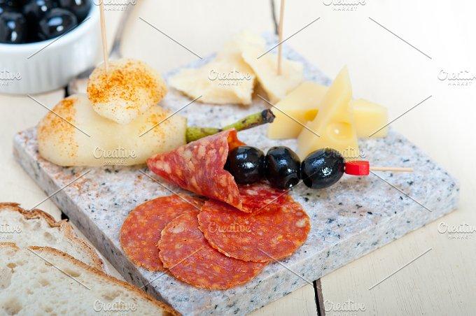 cold cut snack on stone 009.jpg - Food & Drink