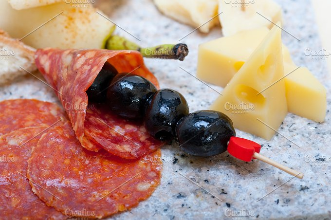 cold cut snack on stone 038.jpg - Food & Drink