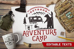 Adventure Camp Badges