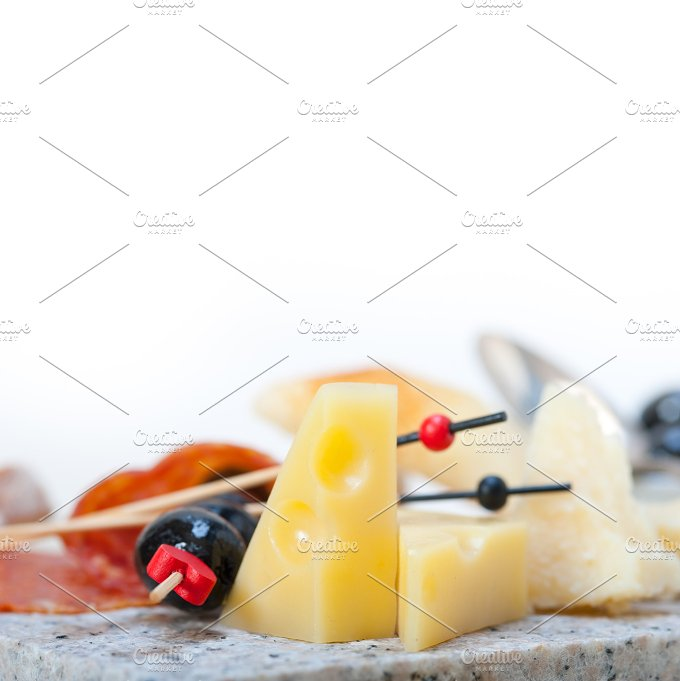 cold cut snack on stone 065.jpg - Food & Drink