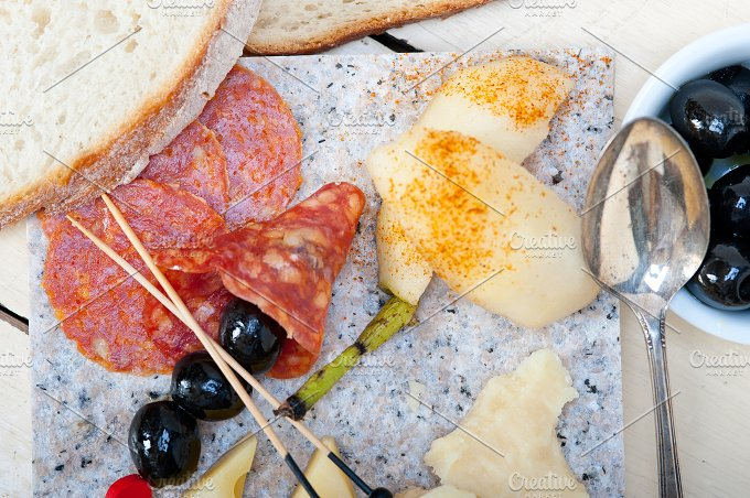 cold cut snack on stone 074.jpg - Food & Drink