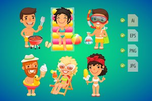 Summer Cartoon Characters