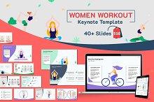 Women Workout Keynote Template